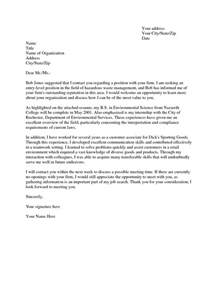 Cover Letter For Science by Science Cover Letter Exles The Best Letter Sle