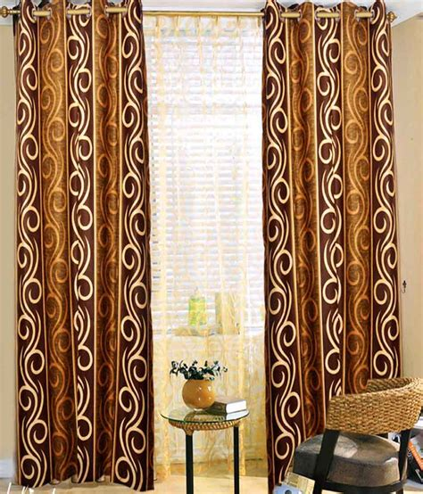 ethnic curtains sai arpan ethnic brown door curtain buy sai arpan ethnic
