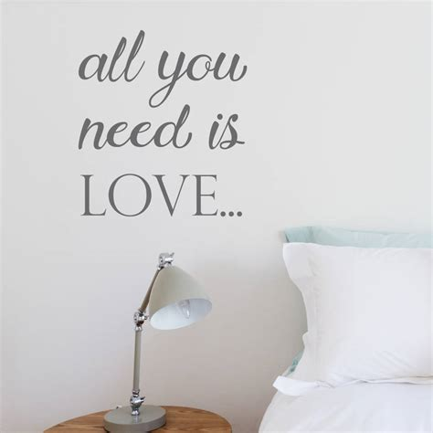 all you need is wall sticker all you need is wall sticker by nutmeg notonthehighstreet