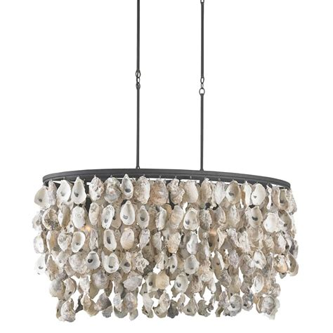 Wrought Iron Island Lighting Sagg Coastal Oyster Shell Wrought Iron Island Light Kathy Kuo Home