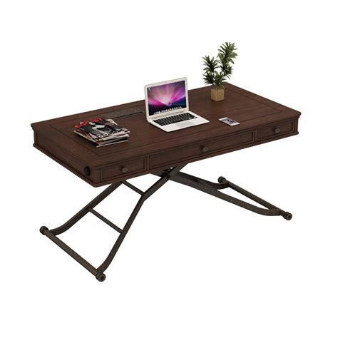 turnkey products sit and stand desk in cherry finish afw
