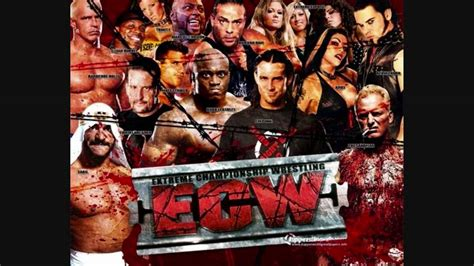 ecw theme song let the body hit the floor youtube
