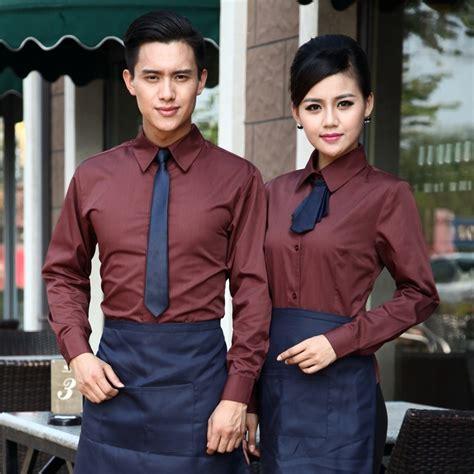 coffee shop uniform design upgraded long sleeve coffee shop cafe waiter waitress