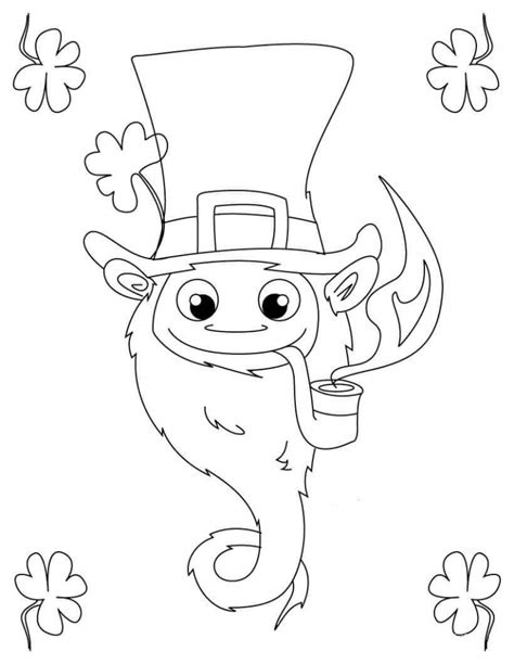 leprechaun coloring page free printable st s day coloring pages
