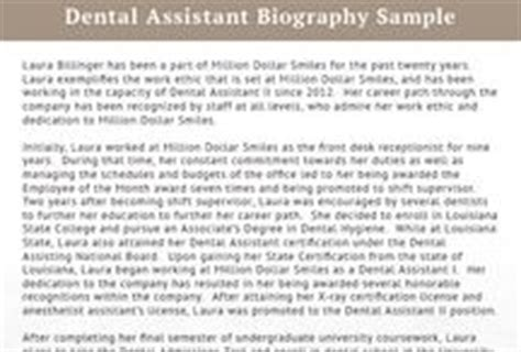 dentist biography template best biography sles best biography on
