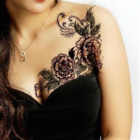 tattoo on side of breast 88 best flower tattoos on the amazingly beautiful