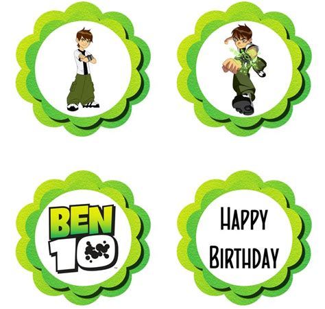 ben 10 printable party decorations 52 best images about cupcakes ben 10 on pinterest edible