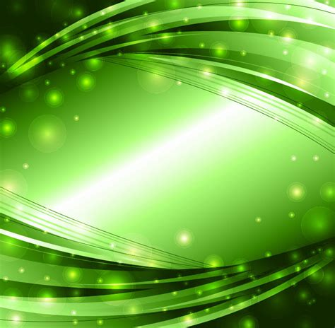 green and gold lights abstract lights vector background free vector graphics