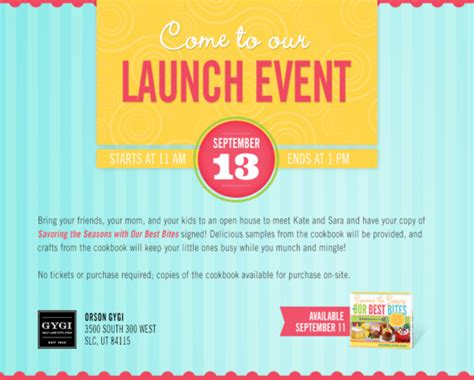 launch invitation templates our best bites book launch you re invited our