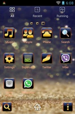 golden themes for android golden star dust android theme for go launcher