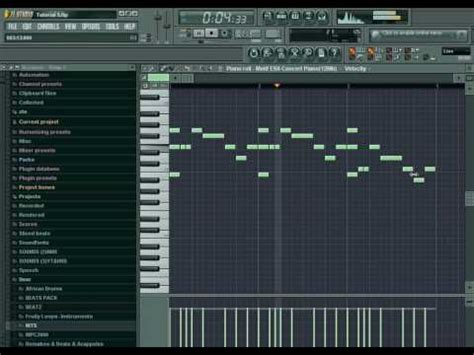 fl studio drum pattern tutorial fl studio 8 tutorial me making a hip hop beat for beginner