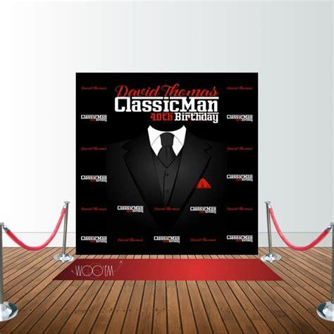 backdrop design for 60th birthday classic man 40th birthday 8x8 backdrop design print and
