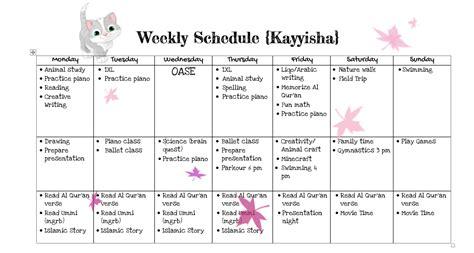 membuat jadwal kegiatan harian anak jadwal harian naufal kayyisha sakola bumi