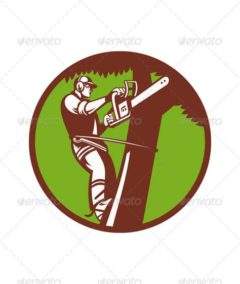 arborist tree surgeon trimmer pruner by patrimonio