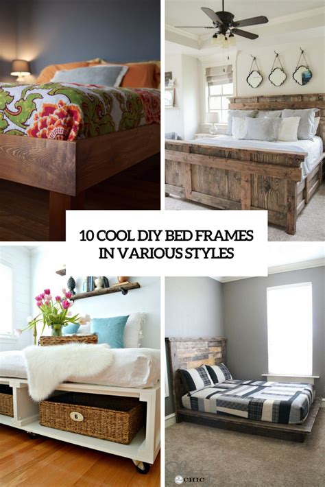 cool bed frames cool diy bed frames home design ideas