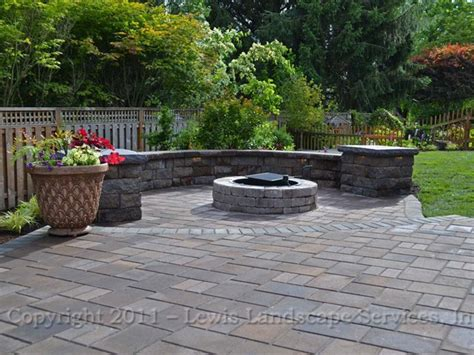 paver patio images lewis landscape services paver patios portland oregon
