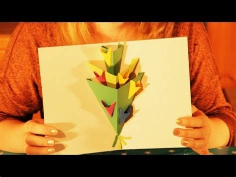 stin up cards to make how to make a pop up flowers greeting card happy
