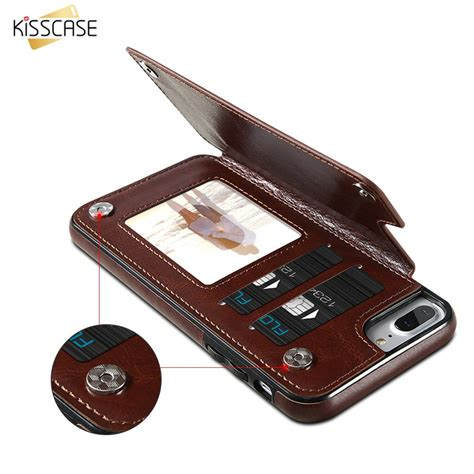 Leather Iphone Samsung kisscase magnetic flip wallet leather for iphones and