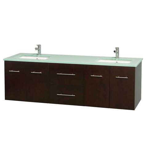 Green Vanity Top by Wyndham Collection Centra 72 In Vanity In Espresso