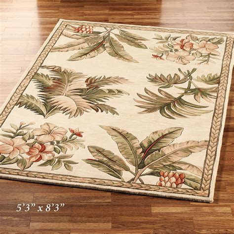 tropical accent rugs tropical retreat round area rugs
