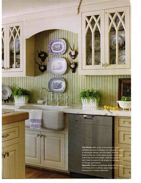 green painted kitchen cabinets with bead board backsplash green beadboard backsplash kitchens white off white
