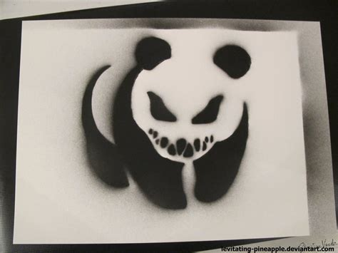 spray painting using stencils pandeath black and white spray stencil by levitating