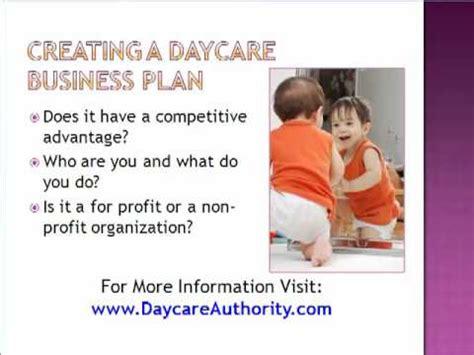 start a child care business daycare plan