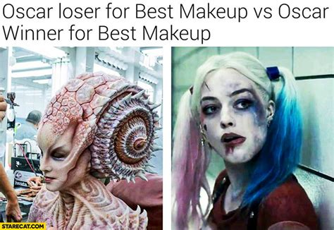 Silly Makeup At The Oscars by Oscar Loser For Best Makeup Vs Oscar Winner For Best
