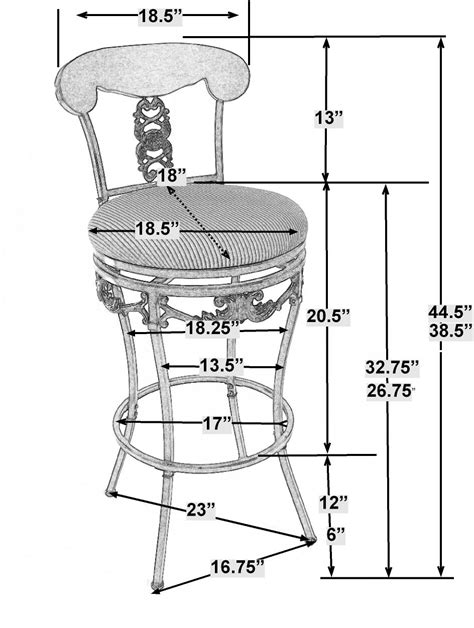 bar stool dimensions standard braillen ashley blaire company