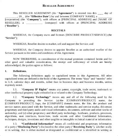 Reseller Agreement Template 9 Free Word Pdf Documents Download Free Premium Templates Software Reseller Agreement Template