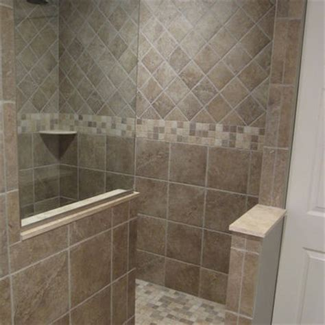 Walk In Shower With No Door 1000 Images About Tile Showers On Shower Tiles Herringbone Tile Pattern And Shower