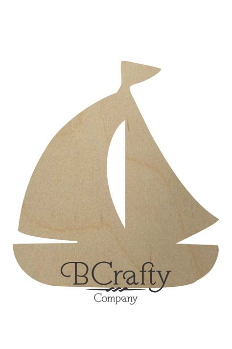 boat shapes craft wooden sailboat cutout wooden sail boat craft shape
