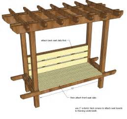 Arbor Bench Plans Ana White Outdoor Bench With Arbor Diy Projects