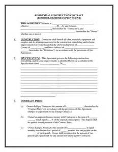 cost plus building contract template pics of residential construction contracts residential