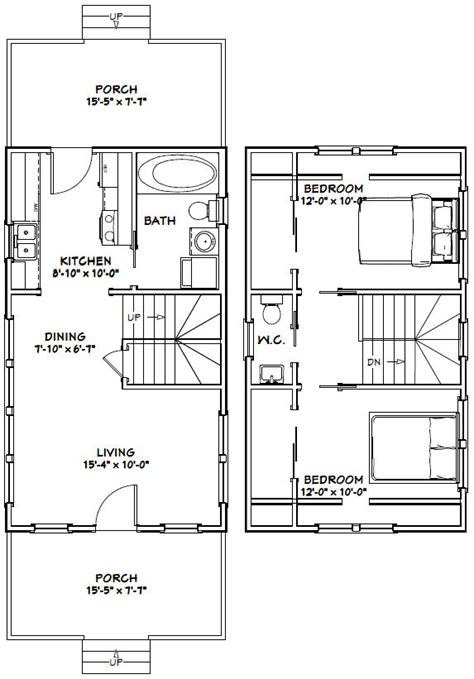 excellent floor plans 16x28 house 16x28h8e 787 sq ft excellent floor plans