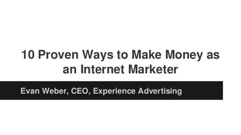 10 Proven Ways To Earn Money At Home This Year 10 Proven Ways To Make Money As An Marketer