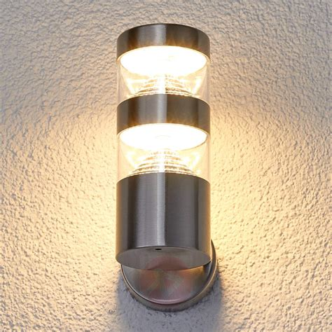 stainless steel outdoor lights stainless steel led outdoor wall light lanea lights co uk