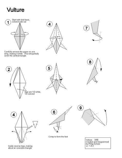 Origami Vulture - wars origami