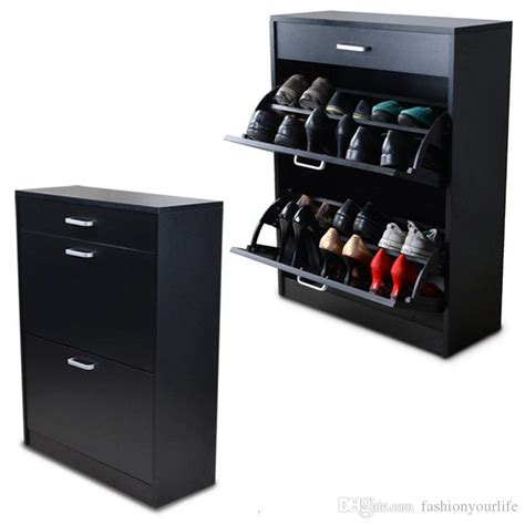 five shelf shoe cabinet with two storage bins black wood shoe cabinet shoe closet rack organizer with