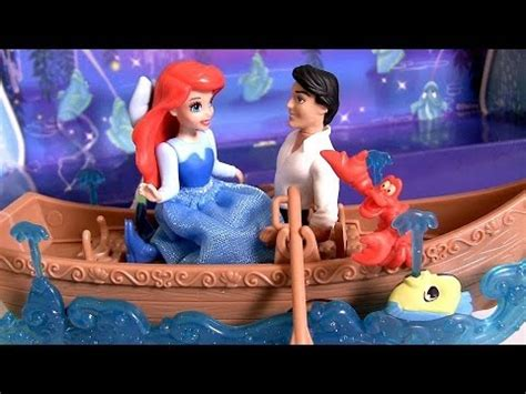 barbie boat ride play doh ariel prince eric boat ride kiss the girl song