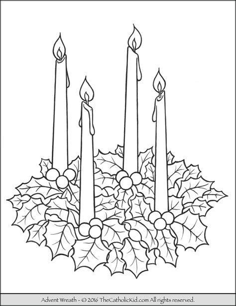 advent wreath coloring page catholic advent wreath coloring page