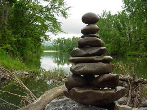 professional rock stacking balancing