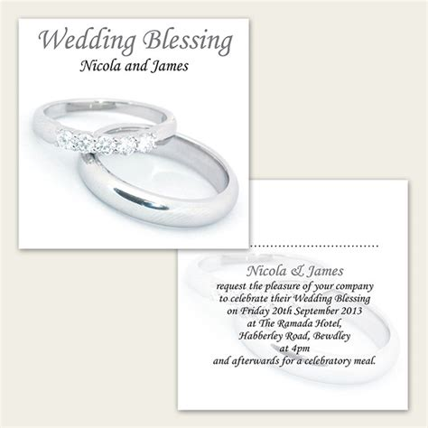 Wedding Ring Blessing Wording by Wedding Blessing Silver Rings From The Card Gallery