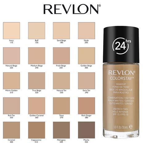 Revlon Foundation Colorstay Liquid 24hours Combination revlon colorstay 24 hours makeup foundation 30ml choose your shade ebay