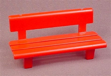 red park bench playmobil red park bench with back 3822 4070 furniture