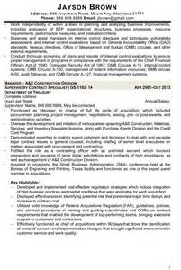 Federal Contract Specialist Cover Letter by Contract Specialist Resume