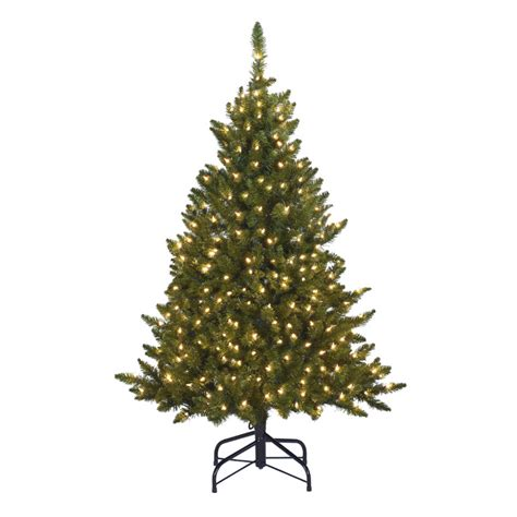 shop holiday living 4 5 indoor outdoor scotch pine decorative artificial tree with clear lights