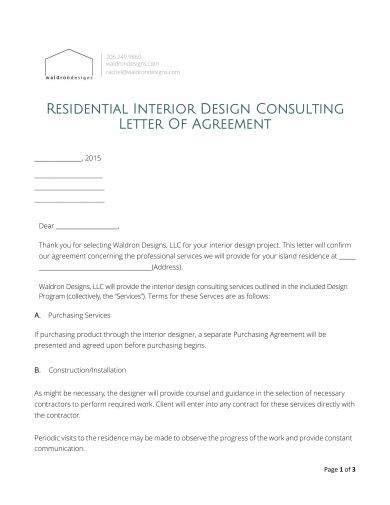 letter  agreement examples   examples