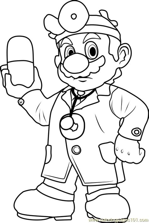 Dr Mario Coloring Pages | dr mario coloring page free super mario coloring pages