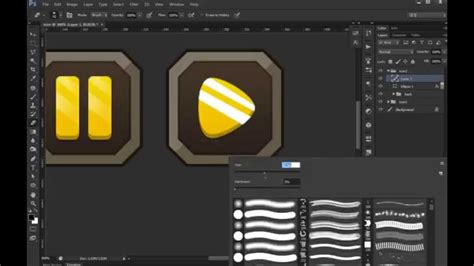 design game photoshop photoshop game button 02 ui design youtube